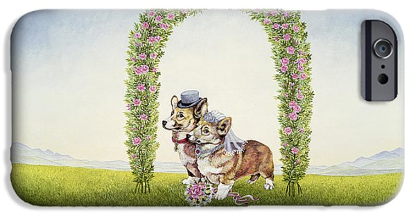 Dogs iPhone Cases - The Royal Wedding iPhone Case by Ditz