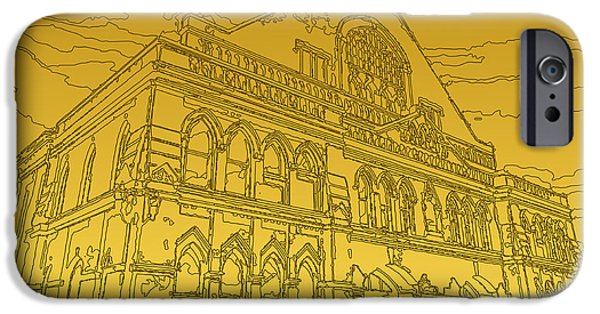 Tennessee Historic Site iPhone Cases - The Ryman Auditorium iPhone Case by Michael Lax