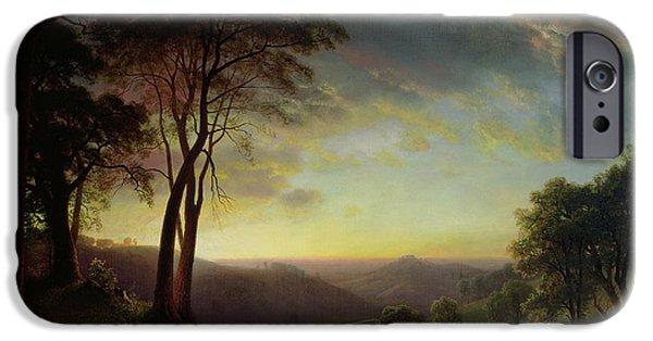 Rural Schools iPhone Cases - The Sacramento River Valley  iPhone Case by Albert Bierstadt