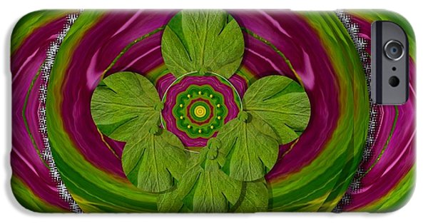 Tibetan Buddhism Mixed Media iPhone Cases - The Sacred Mandala iPhone Case by Pepita Selles