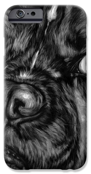 The Sad Boxer iPhone Case by Enzie Shahmiri