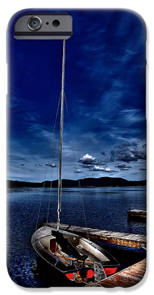 Sailboats iPhone Cases - The Sailboat iPhone Case by David Patterson