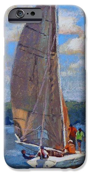 Donna Shortt iPhone Cases - The Sailing Lesson iPhone Case by Donna Shortt