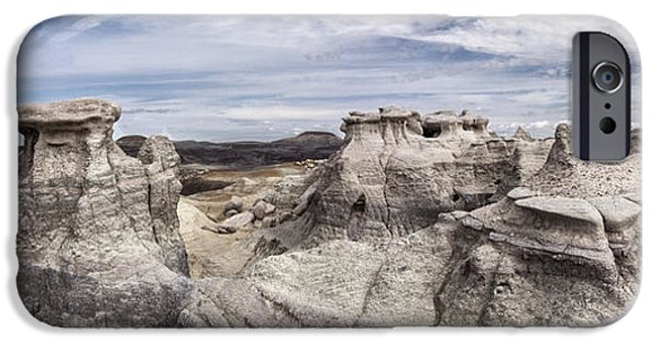 Petrified Forest Arizona iPhone Cases - The Sandcastles iPhone Case by Melany Sarafis