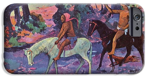 The Horse iPhone Cases - The Scape iPhone Case by Paul Gauguin