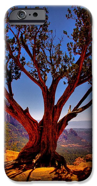 Red Rock iPhone Cases - The Scene in many John Wayne Westerns iPhone Case by David Patterson