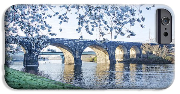 Schuylkill iPhone Cases - The Schuylkill River at Springtime iPhone Case by Bill Cannon
