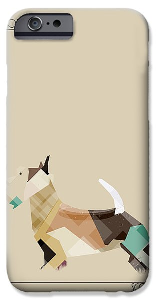 Scottish Terrier Art iPhone Cases - The Scottish Terrier iPhone Case by Bri Buckley
