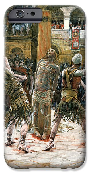 Humiliation iPhone Cases - The Scourging iPhone Case by Tissot
