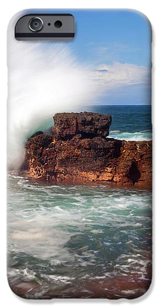 The Sea Explodes iPhone Case by Mike  Dawson