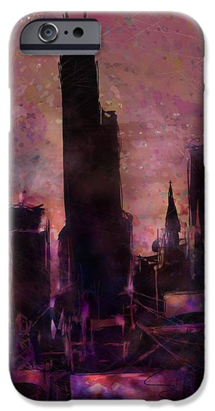 Sears Tower iPhone Cases - The Sears Tower iPhone Case by Rachel Christine Nowicki