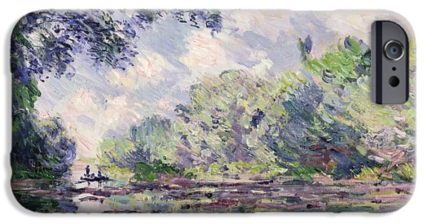 Overhang iPhone Cases - The Seine at Giverny iPhone Case by Claude Monet