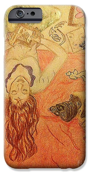 Michelle Mixed Media iPhone Cases - The Self Taught Artist iPhone Case by Michelle Reid