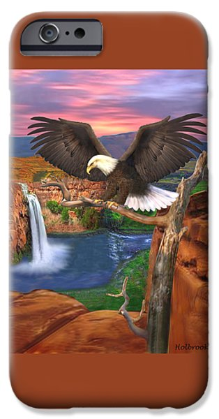 Grand Canyon iPhone Cases - The Sentinal iPhone Case by Glenn Holbrook