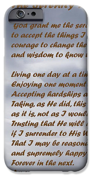 The Serenity Prayer iPhone Case by Barbara Snyder