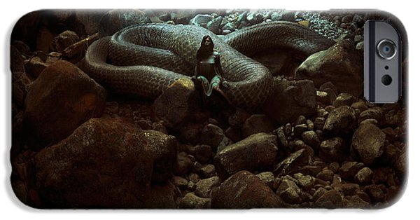 Serpent iPhone Cases - The Serpents Lair iPhone Case by Michal Karcz