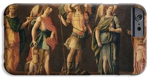 Particular Paintings iPhone Cases - The Seven Archangels iPhone Case by Matteo TOTARO