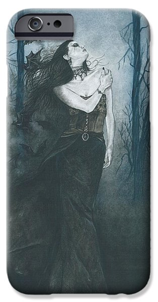 Night Angel iPhone Cases - The shadow is Lyra iPhone Case by Isis Raye
