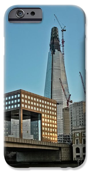 Finance iPhone Cases - The Shard London Bridge iPhone Case by Terri  Waters