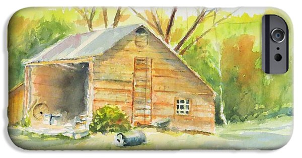 Old Barns iPhone Cases - The Shed iPhone Case by Jean Costa
