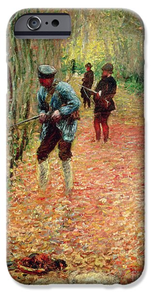 Country Lanes iPhone Cases - The Shoot iPhone Case by Claude Monet
