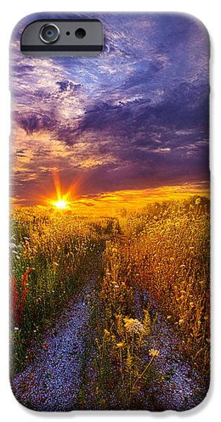 Field. Cloud iPhone Cases - The Shortcut iPhone Case by Phil Koch