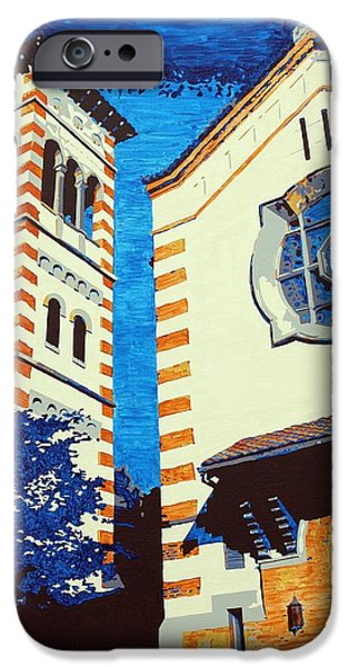 Church Pillars Paintings iPhone Cases - The Shrine Of the Miraculous Medal iPhone Case by Sheri Parris