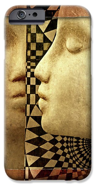 Surrealism Digital iPhone Cases - The Silent WIndow iPhone Case by Jeff  Gettis