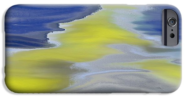 Abstract Digital Paintings iPhone Cases - The Silver Road iPhone Case by Lenore Senior
