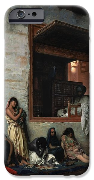 1871 iPhone Cases - The Slave Market iPhone Case by Jean Leon Gerome