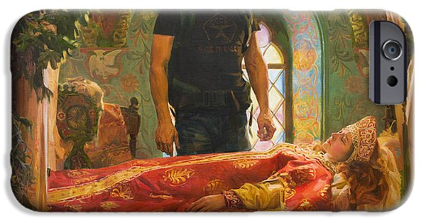 Fairy Tale iPhone Cases - The Sleeping Beauty iPhone Case by Victoria Kharchenko