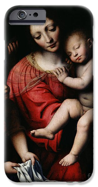 Religious iPhone Cases - The Sleeping Christ iPhone Case by Bernardino Luini