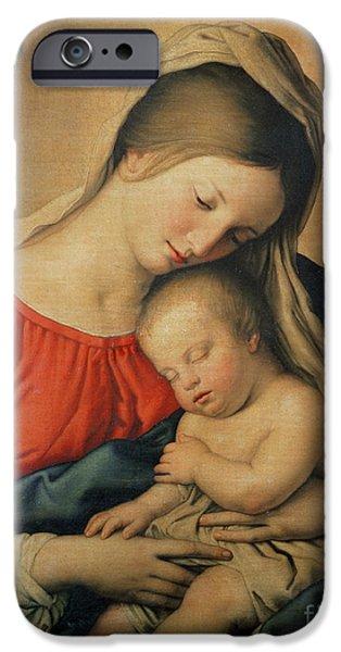 Cherub iPhone Cases - The Sleeping Christ Child iPhone Case by Il Sassoferrato