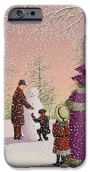 Child iPhone Cases - The Snowman iPhone Case by Peter Szumowski