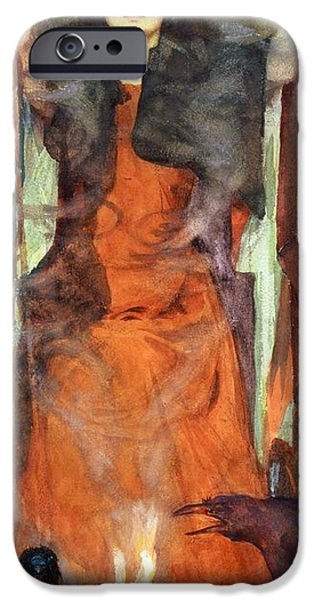 Witch iPhone Cases - The Sorceress iPhone Case by Henry Meynell Rheam
