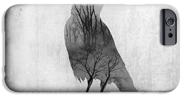 Nature Abstracts iPhone Cases - The Soul Of Crow iPhone Case by Gothicolors Donna Snyder