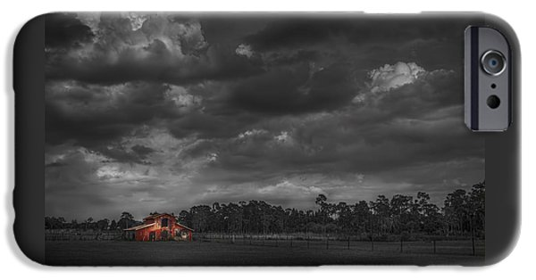 Buildings iPhone Cases - The South Forty iPhone Case by Marvin Spates