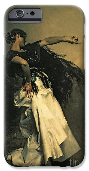 1856 iPhone Cases - The Spanish Dancer iPhone Case by John Singer Sargent