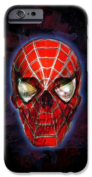 Eerie iPhone Cases - The Spider Sense iPhone Case by Ian Barefoot