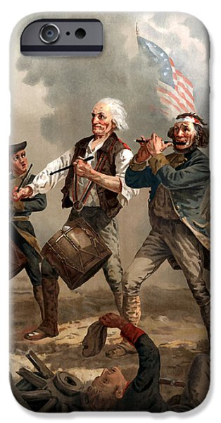 American Revolution iPhone Cases - The Spirit of 76 iPhone Case by War Is Hell Store