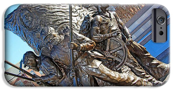 Cora Wandel iPhone Cases - The Spirit Of Freedom -- The African American Civil War Memorial iPhone Case by Cora Wandel