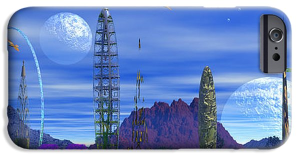 Moonscape iPhone Cases - The Squodge of Squidge iPhone Case by Mark Blauhoefer