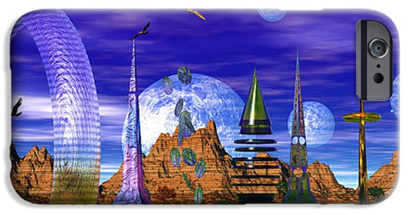 Moonscape iPhone Cases - The Squorkle Of Squerkle iPhone Case by Mark Blauhoefer