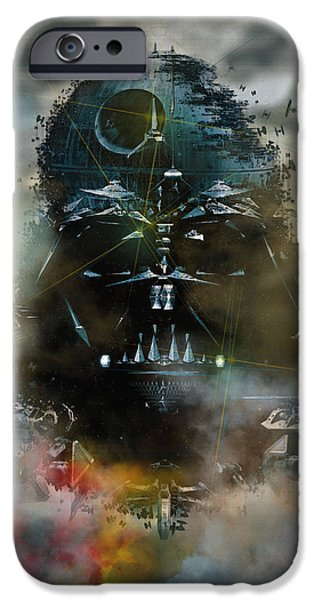 Michael iPhone Cases - The Star Wars Saga iPhone Case by Don Kuing