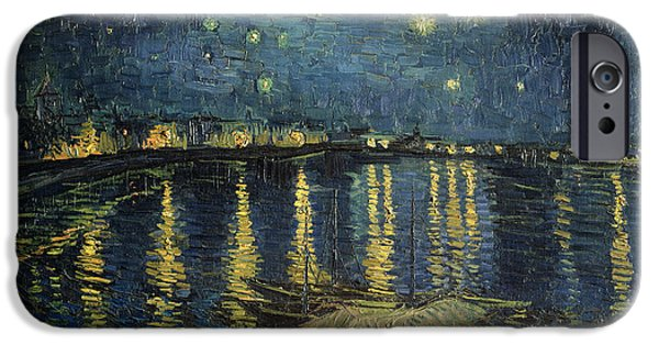 Reflection Paintings iPhone Cases - The Starry Night iPhone Case by Vincent Van Gogh