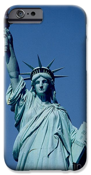 United States iPhone Cases - The Statue of Liberty iPhone Case by American School
