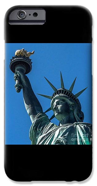 American Independance iPhone Cases - The Statue of Liberty iPhone Case by James Aiken