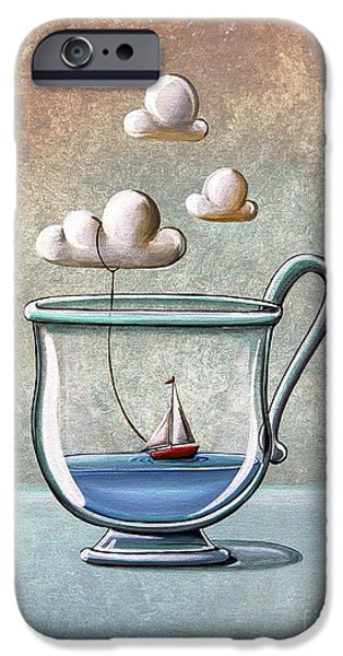 Sailboat Paintings iPhone Cases - The Steam Boat iPhone Case by Cindy Thornton
