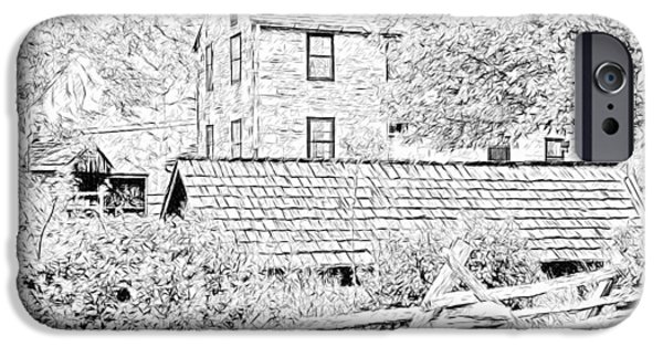 Recently Sold -  - Shed iPhone Cases - The Stone House at the Oliver Miller Homestead iPhone Case by Digital Photographic Arts