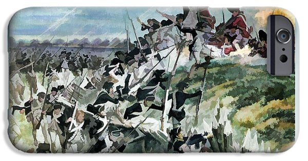 Yorktown iPhone Cases - The Storming of Ramparts iPhone Case by John Feiser